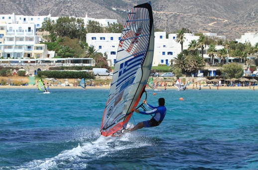 Windsurfing at Paros island Greece