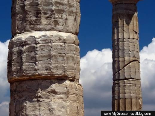 Temple of Poseidon at Cape Sounion Greece