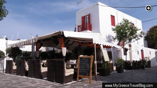 Fato a mano restaurant at Meletopoulou Square in Mykonos Town