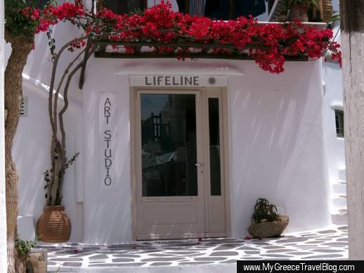 Lifeline Art Studio at 7 Skardana in Mykonos Town
