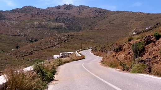 road from Panormos to Agios Sostis on Mykonos