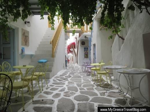 Kampani Street in Mykonos Town