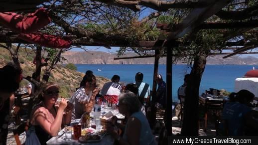 Kiki's Taverna at Agios Sostis Mykonos