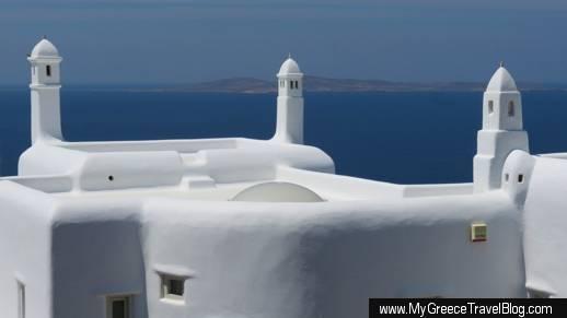 a villa on Mykonos island in Greece