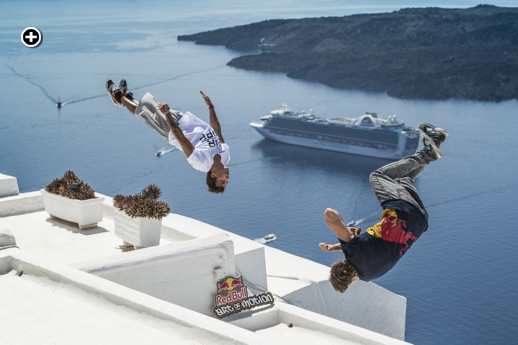 Freerunners Marcus Gustafsson of Sweden and Jason Paul of Germany photographed by Predrag Vuckovic