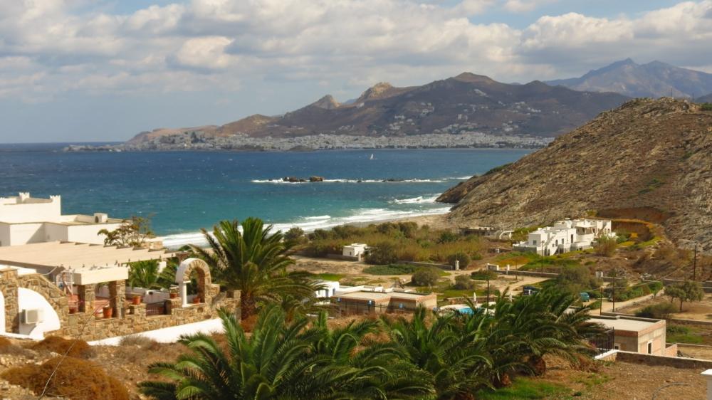 View toward Naxos Town