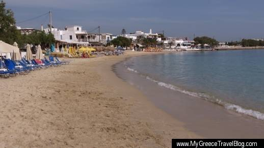 Agia Anna beach on Naxos