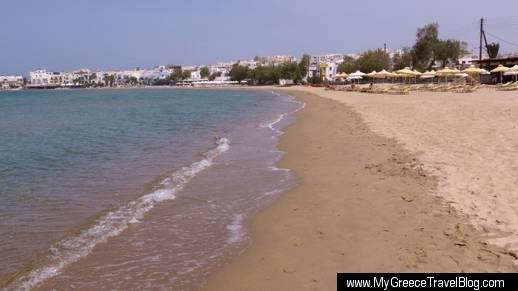 Agios Georgios beach at Naxos Town