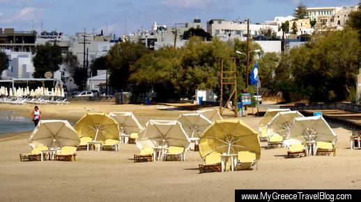 Agios Georgios beach on Naxos