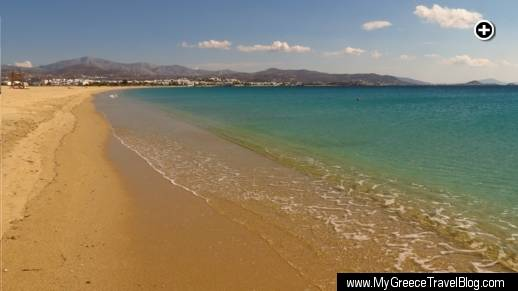 Agios Prokopios beach on Naxos is over 1 kilometer long