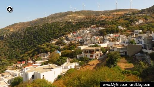 Koronos, one of the scenic mountain villages on Naxos
