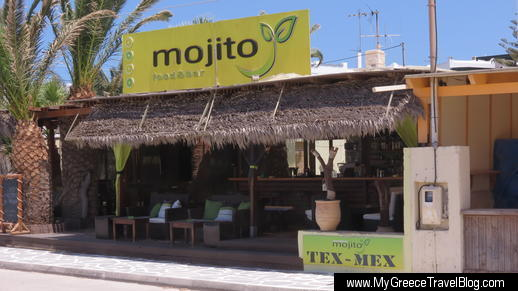 Mojito bar at Agios Prokopios beach