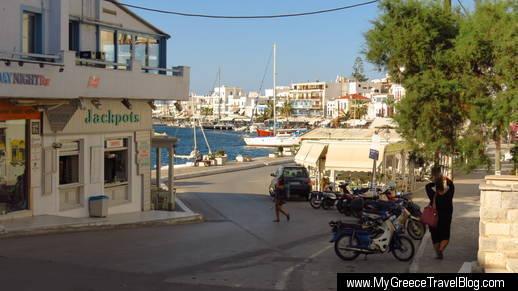 Naxos Town waterfront