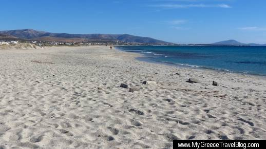 Parthenos beach on Naxos