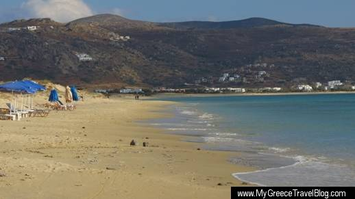 Plaka beach on Naxos