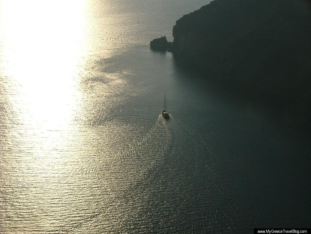 sunset sail at santorini