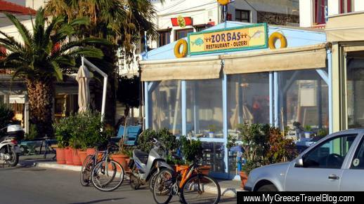 Zorbas restaurant Naxos Town