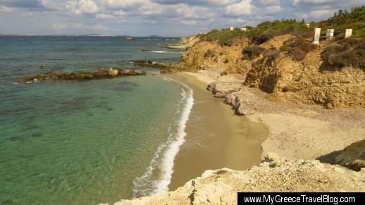 a beach in Stelida Naxos