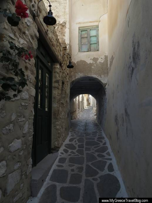 a lane in the Naxos Town castle