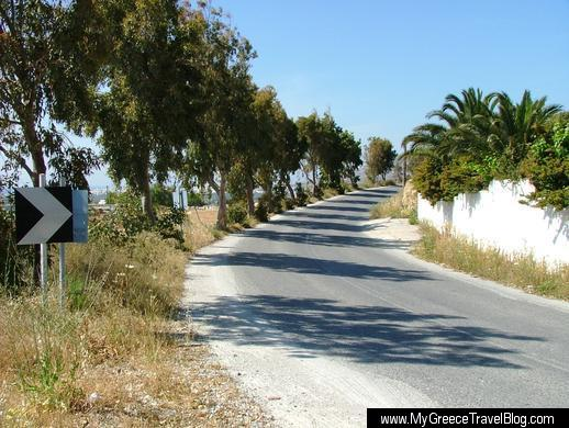 a road near Glinado on Naxos