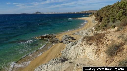 beaches at Orkos on Naxos