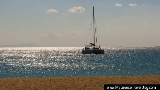 catamaran at Agios Prokopios beach