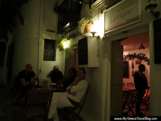 La Vigne wine bar in Naxos Town