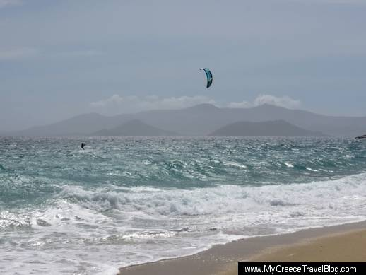 kite surfing  on Naxos
