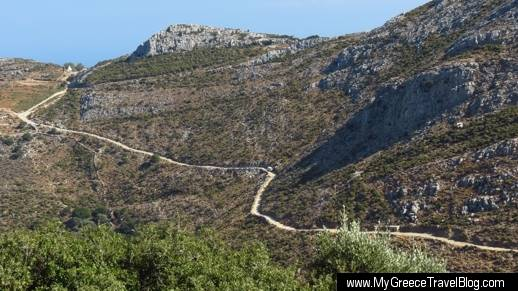 mountain road on Naxos