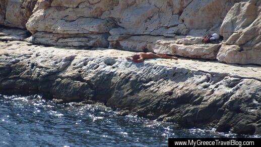 Apollo Coast nude sunbather