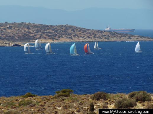 sailboats in the Saronic Gulf