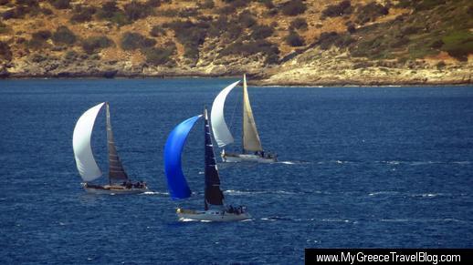 sailboats near Fleves island