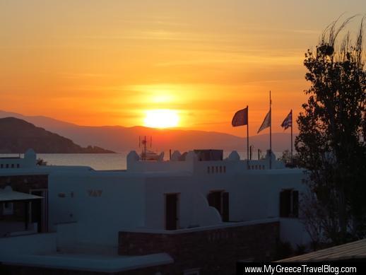Hotel Spiros Naxos sunset view
