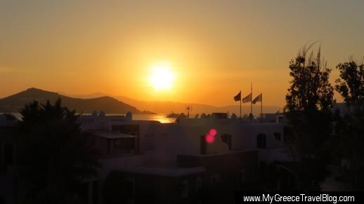 Hotel Spiros sunset view