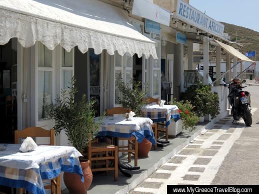 Aphrodite restaurant on Ios