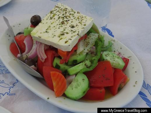 Greek salad at Aphrodite restaurant