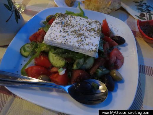 Greek salad at Enigma Ios