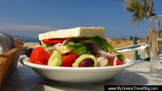 Greek salad at Paradiso Taverna