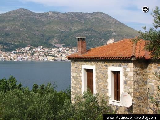 Vathi the main town on Samos island