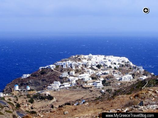 Approaching the medieval-era Kastro village on Sifnos island in Greece