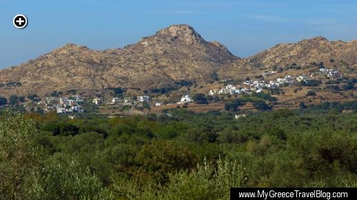 Kaloxilos, one the scenic mountain villages on Naxos