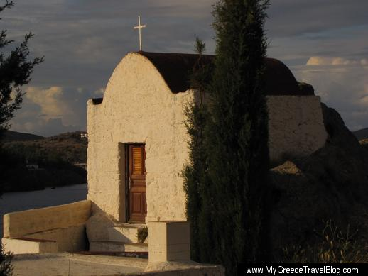 a chapel on Patmos