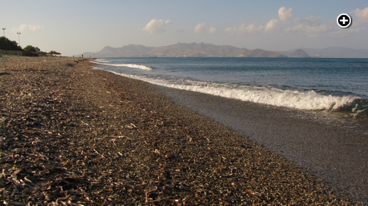 View toward Turkey from one of the beaches at Kos Town on Kos island