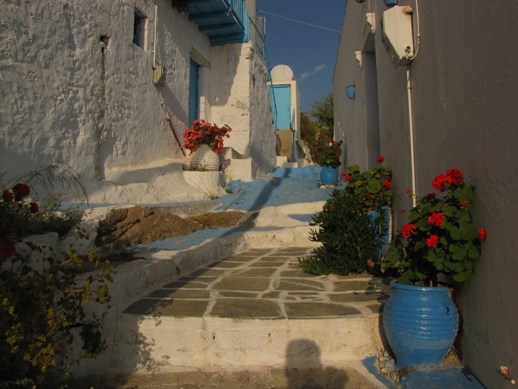 a blue lane on Milos