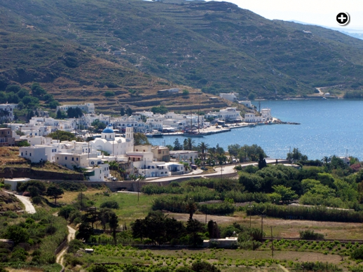 Katapola village and port on Amorgos island