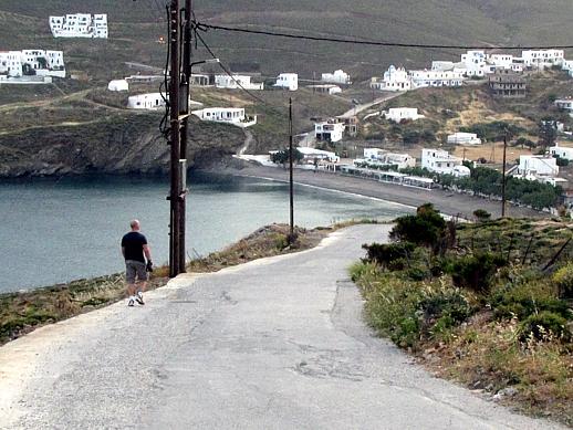 road from Chora to Livadi beach