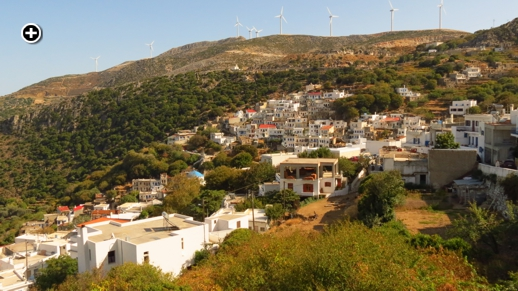 Koronos village on Naxos