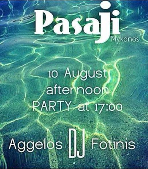 Pasaji restaurant and beach bar Mykonos
