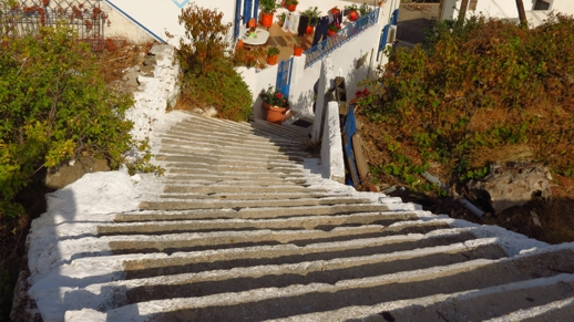 stairs in Koronos village
