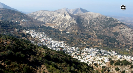 Filoti village on Naxos